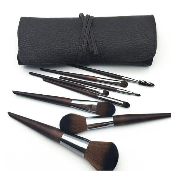 High-grade Wooden Handle Synthetic Face Eye Cosmetic Makeup Brush 8pcs