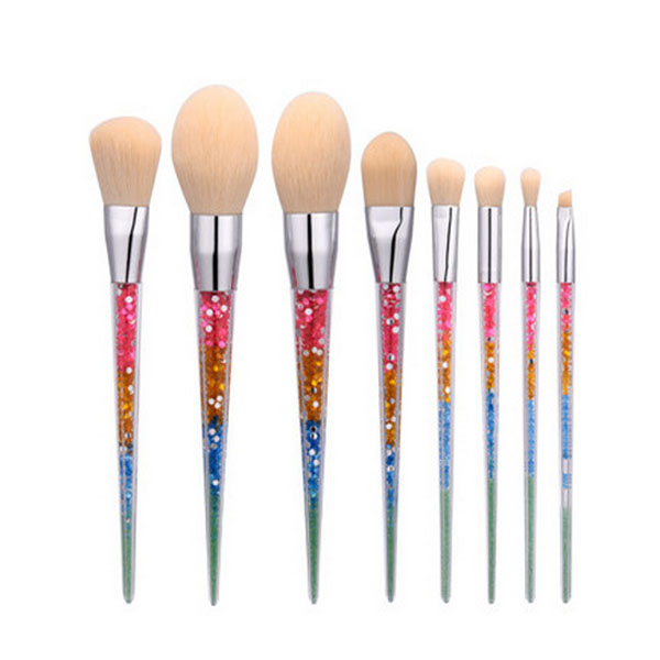 7Pc Cosmetic Powder Eye Make up Tools Unicorn Diamond Makeup Brush Set