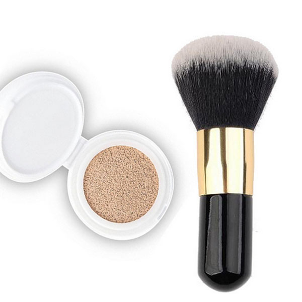 Powder makeup brush custom logo synthetic wooden Mineral makeup brush