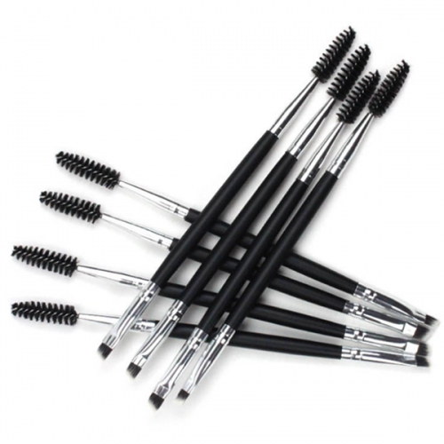 Professional Double Ended Synthetic Wood Eye Brow Brush Lash Brush