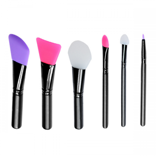 Silicone Face Foundation Makeup Brush Silicone Mask Brushes Set 6Pcs