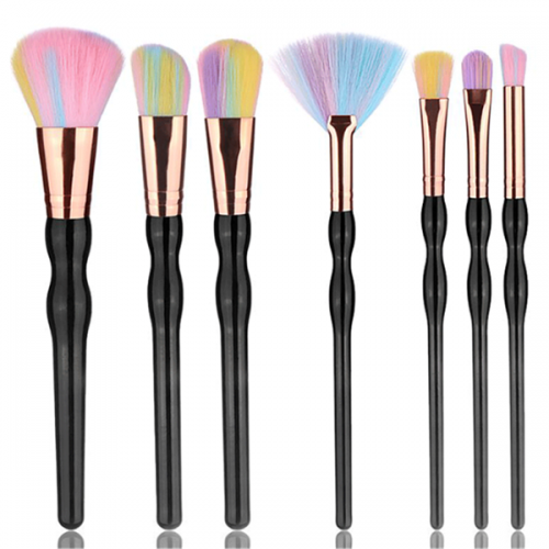 Colors cosmetic brush face foundation powder makeup brush set 7 pcs