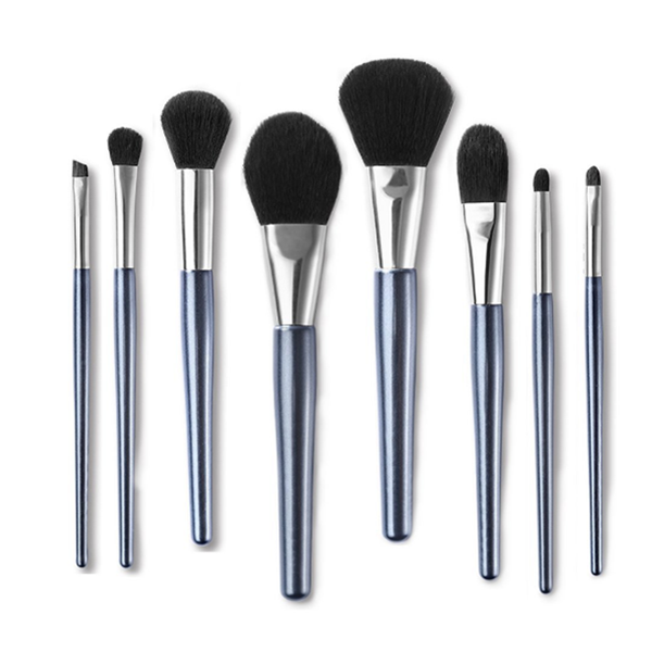 Color Synthetic Custom Blusher Contour Eye Shadow Makeup Brush 8 Pcs