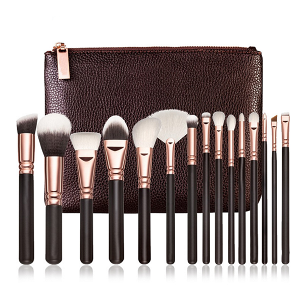 High Quality Synthetic Makeup Brushes Cosmetic Makeup Brush Set 15Pcs
