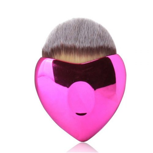 Heart Synthetic Cosmetic Face Powder Liquid Foundation Makeup Brush