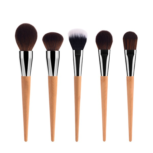 Best Synthetic Bamboo Cosmetics Powder Eye Blusher Makeup Brush 15Pcs