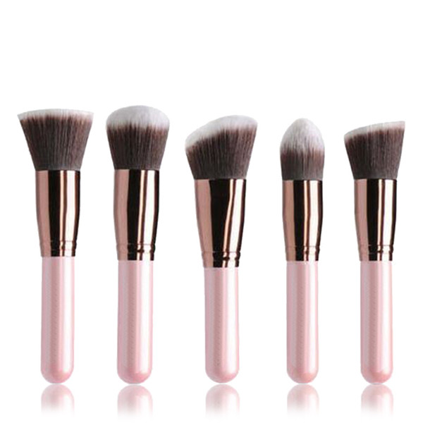 10 Pc Synthetic Wooden Custom Brand Cosmetic Face Makeup Brush Set