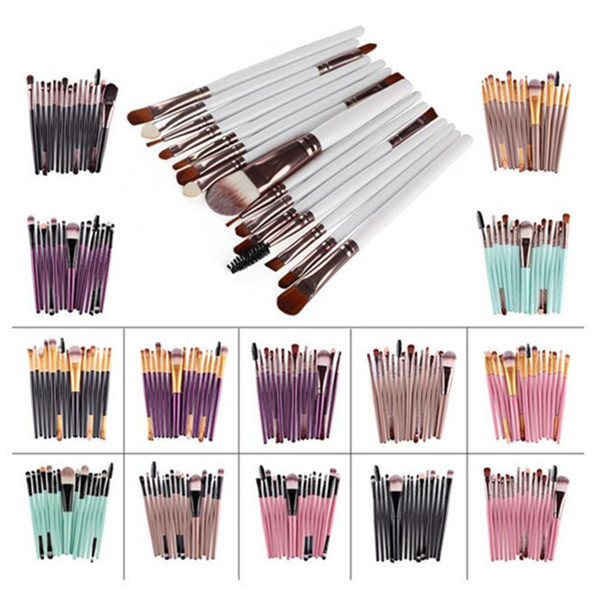Eyeshadow Eyebrow Eyeliner Lip Cosmetic Makeup Brushes 15Pcs
