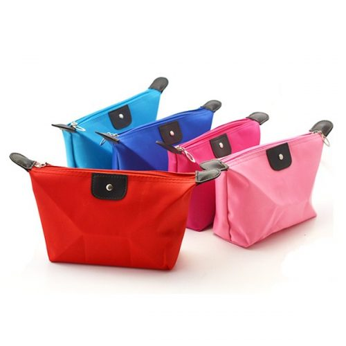 Wholesale lady custom cosmetic bag travel makeup beauty bag
