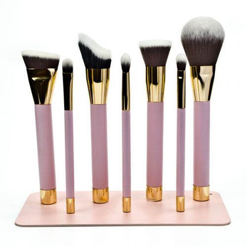 Magnetic 7pcs soft synthetic hair cosmetic face eye makeup brush set