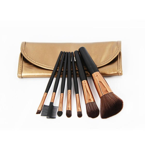 7PCS Professional Face Brush Small Cosmetics Brush Set With Bag