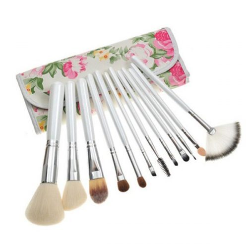 12PCS Cosmetic Brush Set for Power, Blush Eye Shadow Eyeliner Makeup