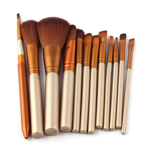 12PCS Cosmetic Brush Set with Eyeshadow Brushes, Foundation Brush