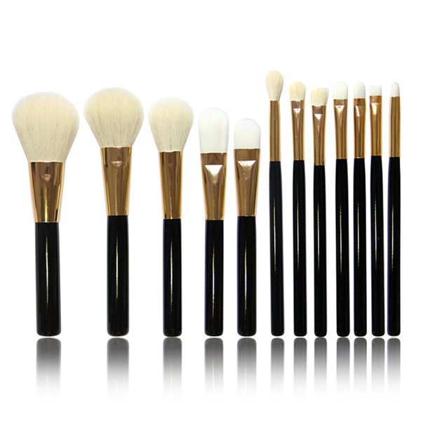 Goat Makeup Brush 12 Pcs Cosmetic Powder Foundation Eye Makeup Brush
