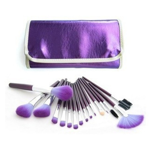 Great quality purple custom logo cosmetic makeup brush 16Pcs