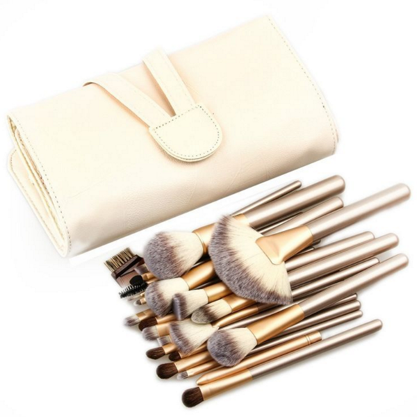2018 professional private label makeup brush 24 piece makeup brush set