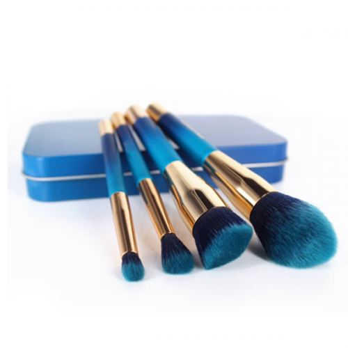 4Pcs Cosmetic Eye Shadow Face Powder Magnetic Make up Brush Set