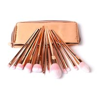 Synthetic Ross Gold Unicorn Foundation Eyeshadow Makeup Brushes 12Pcs
