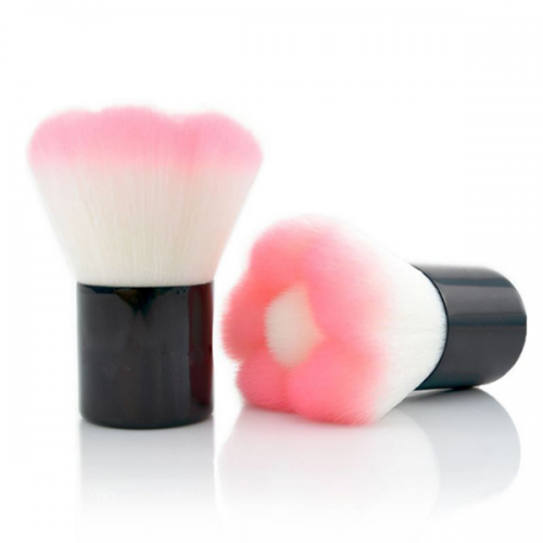 Pink Synthetic Hair Cosmetics Blush Brush Face Powder Makeup Brush