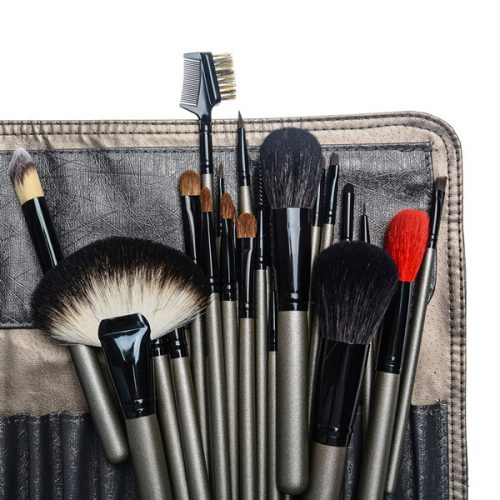 12pcs foundation eyeshadow eyeliner lip makeup brush with package