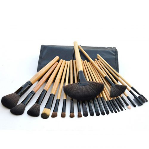 24Pcs Wooden Handle Cosmetic Makeup Brush Beauty Care Makeup Tools