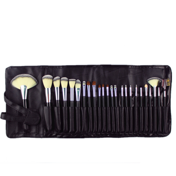 Professional Makeup Brush Wood Synthetic Cosmetic Make up Brush 24Pcs