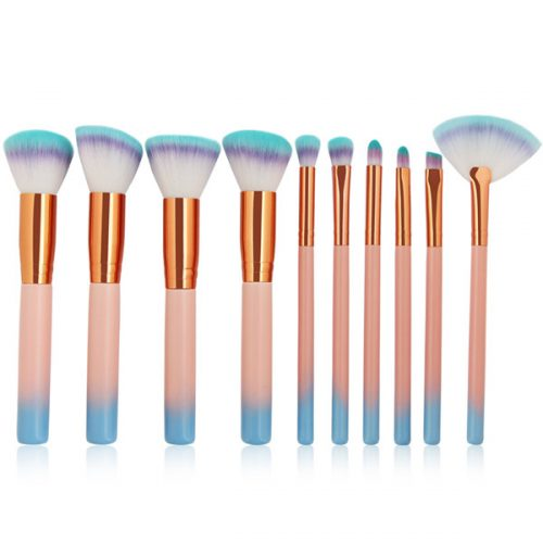 High Grade Pink Synthetic Wood Face Eye Shadow Makeup Brush With Bag