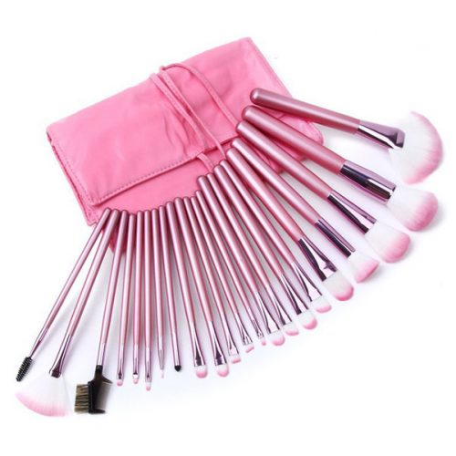 Custom logo high quality 22 pcs synthetic makeup brush set