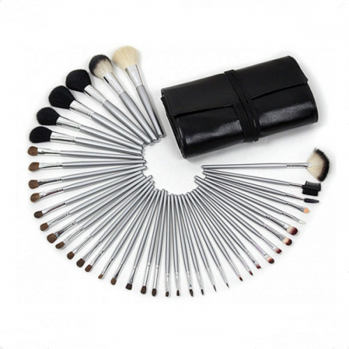 Pro Face Powder Foundation Eye Shadow Eyebrow Makeup Brush Set 40 Pcs