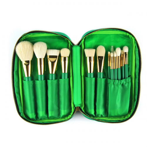 Top Quality Goat Hair Cosmeitcs Powder Blusher Makeup Brush Set 15Pcs