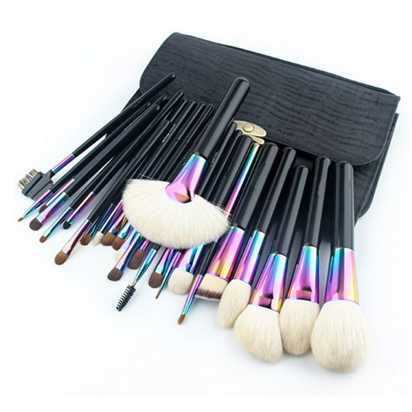 26 Pcs Cosmetic Powder Foundation Eye Shadow Eyebrow Makeup Brush Set