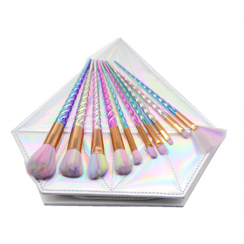 Rainbown makeup brush 10pcs