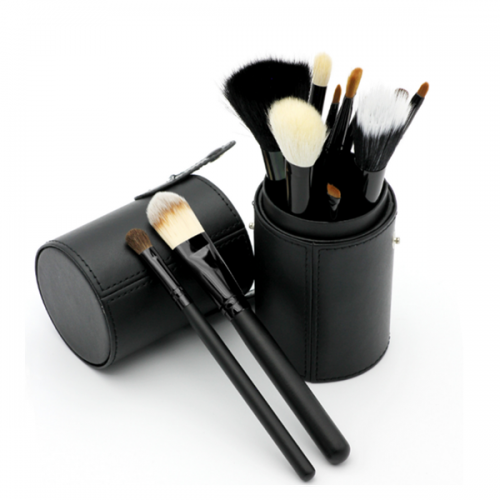 Private Label Makeup Brush 12Pc Wood Synthetic Make up Brushes Set