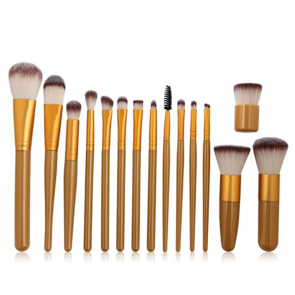 Best Cosmetic Foundation Eye Shadow Powder Makeup Brush 15 Pcs