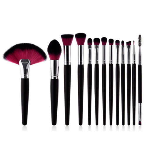 Synthetic Foundation Eye Shadow Face Powder Makeup Brush Set 13Pc