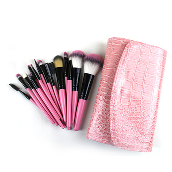 Cosmetic Brush Synthetic Hair Face Eye Powder Makeup Brush Set 15Pcs