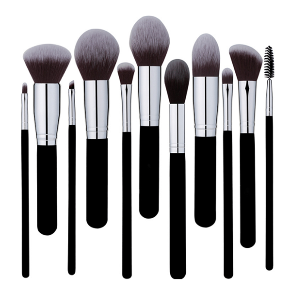8Pcs Cosmetics Mineral Eye Shadow Contour Blusher Makeup Brush Set