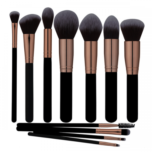 11 Pcs Cosmetics Mineral Eye Shadow Contour Blusher Makeup Brush Set