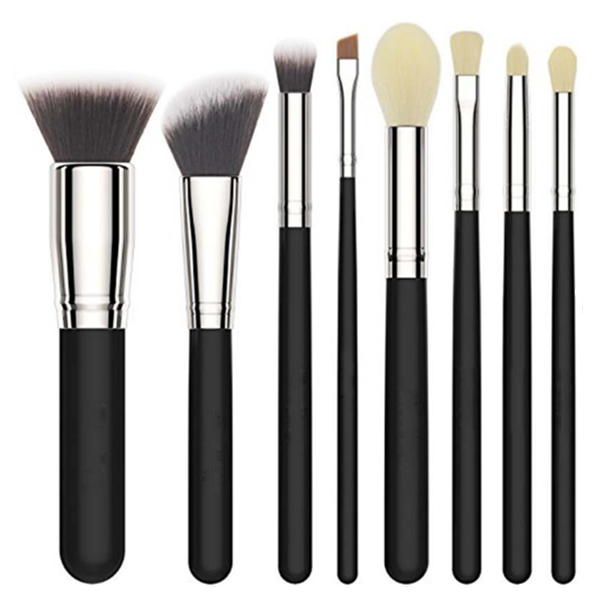 High Quality Synthetic Face Powder Cosmetic Makeup Brush Set 8Pcs