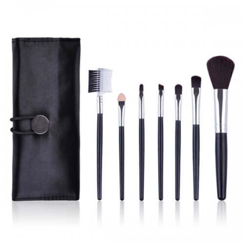 7 Pcs Cosmetic Tool Kits Eyeshadow Face Powder Make up Brushes Set