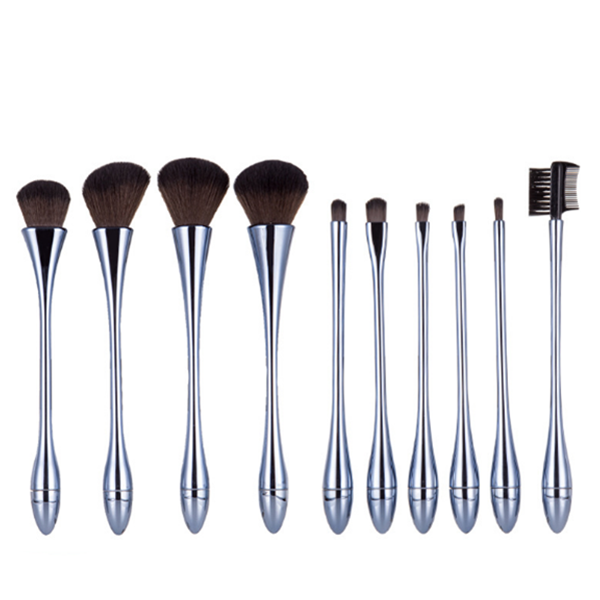 Private Label Synthetic Face Mineral Eye Makeup Brushes 10Pcs
