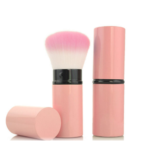 Single Face Powder Pink Synthetic Face Blusher Contour Makeup Brush