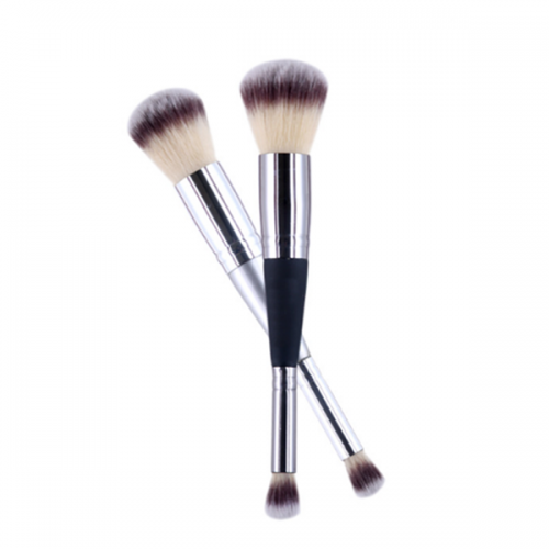 Double Ended Face Powder Eye Countour Synthetic Cosmetic Makeup Brush
