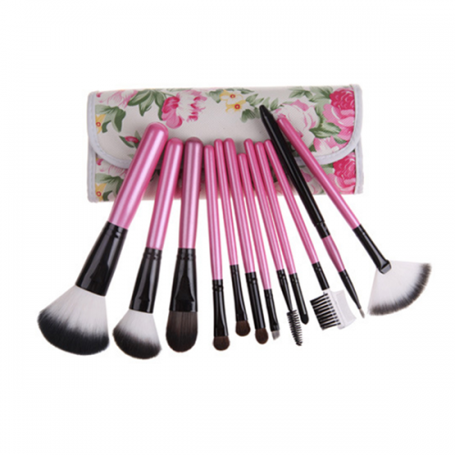 Wholesale Private Label 12PCS Makeup Brush Sets with Bag