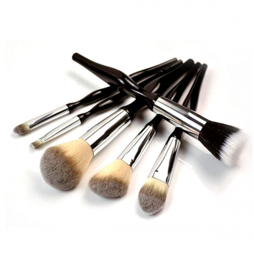 6Pc Black Makeup Brush Set