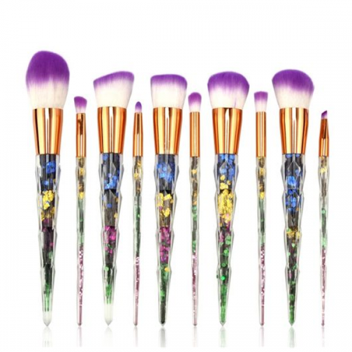 10 PCS Professional Unicorn Makeup Eye Shadow Cosmetic Face Brush Set