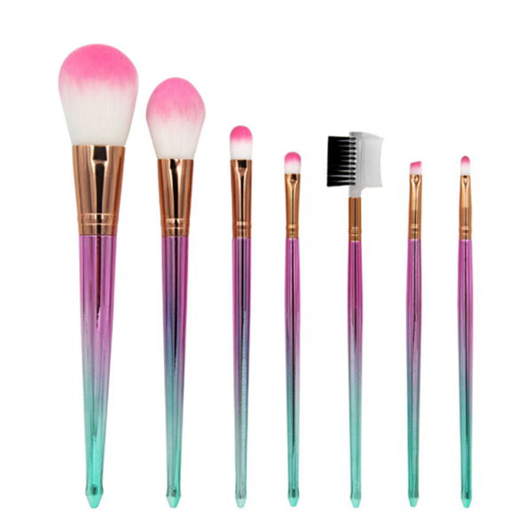 New Cosmetic Face Powder Eye Brush Set 7 Pcs for Christmas Gift