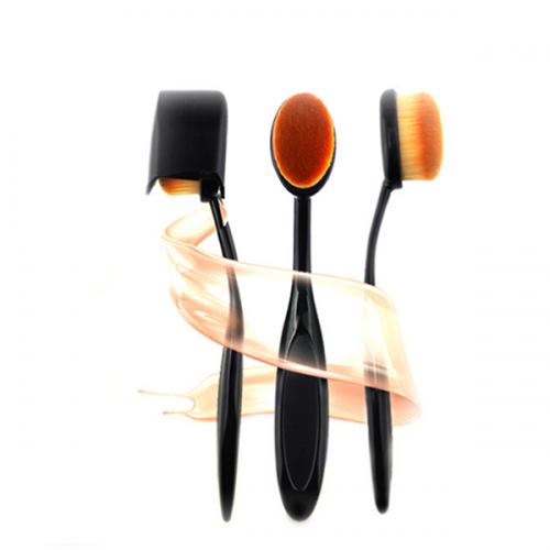 Private Label Synthetic Hair Oval Face Foundation Brush 1 Pcs