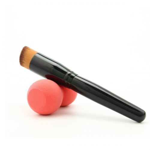 High Quality Cosmetic Liquid Foundation Brush Single Angle Flat Brush