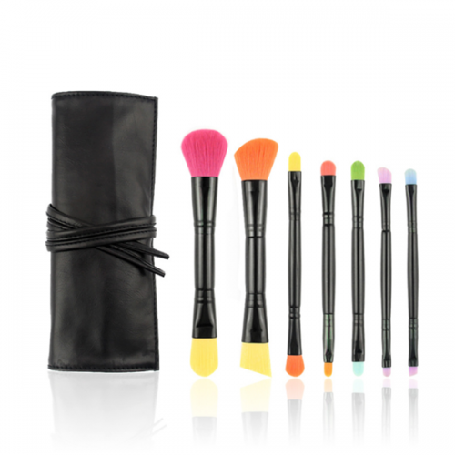 7 PCS Double ended Colors Synthetic Hair Face Eye Makeup Brush